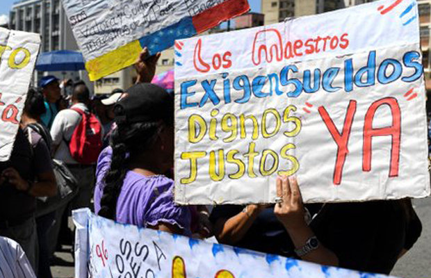 "Resultado de imagen para Magisterio venezolano anuncian paro por 72 horas"""